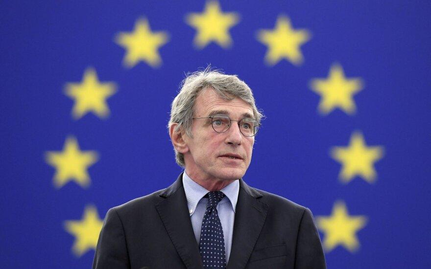 Europos Parlamento pirmininkas Davidas Sassoli