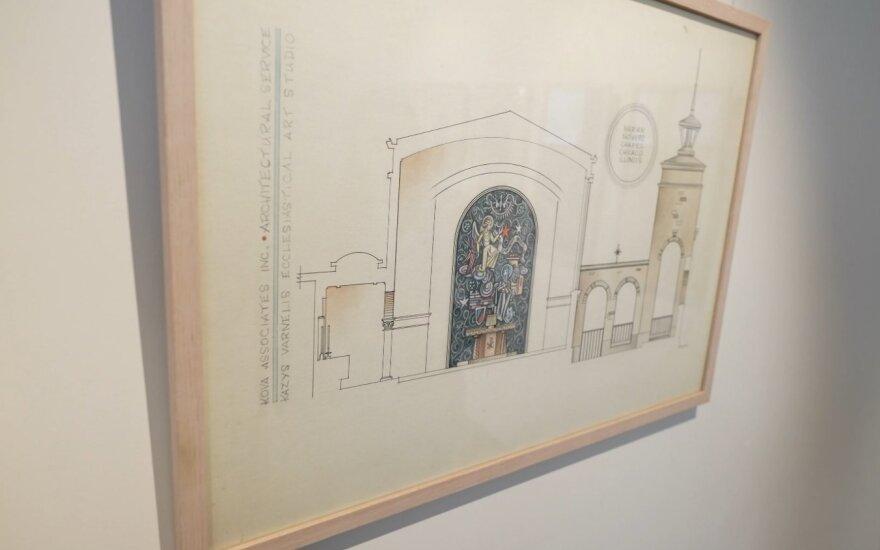 Pirmoji virtualiai atidaroma paroda - Kazio Varnelio bažnyčių interjerų piešinių paroda