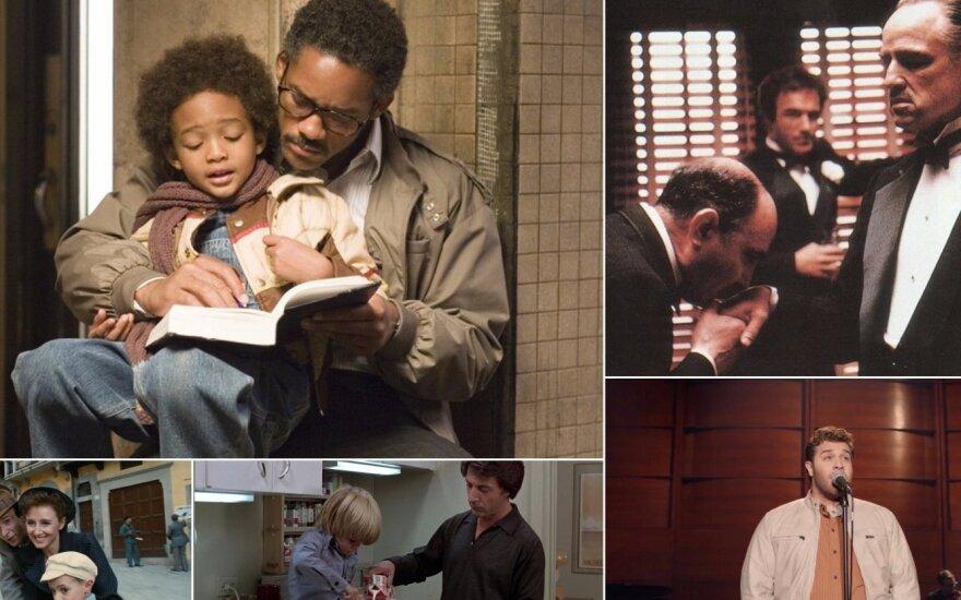 Kadrai iš filmų apie tėčius
