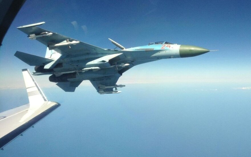 NATO jets scrambled once from Lithuania last week over Russian warplanes