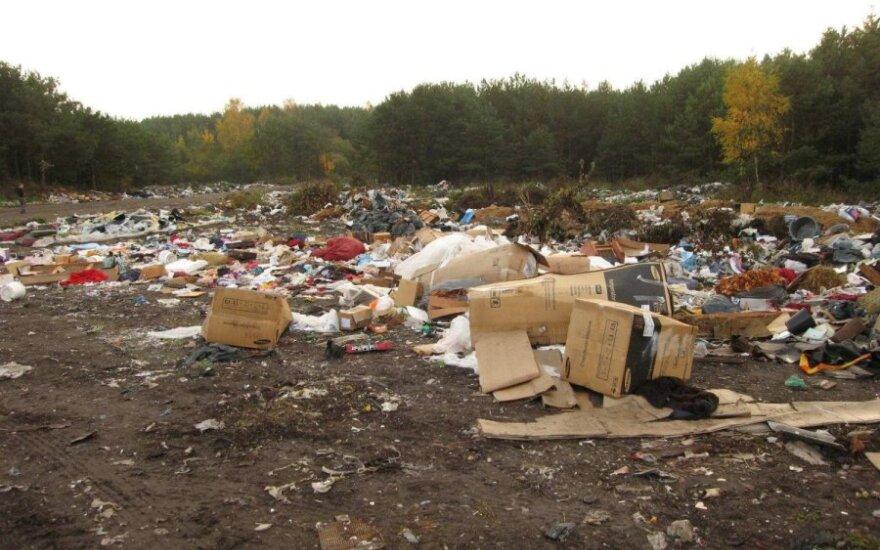 Atliekų sąvartynas Tauragėje (Lietuvos geologijos tarnybos nuotr.)