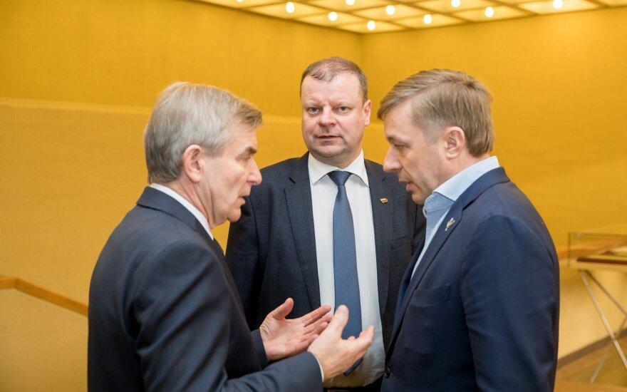 Viktoras Pranckietis, Saulius Skvernelis, Ramūnas Karbauskis