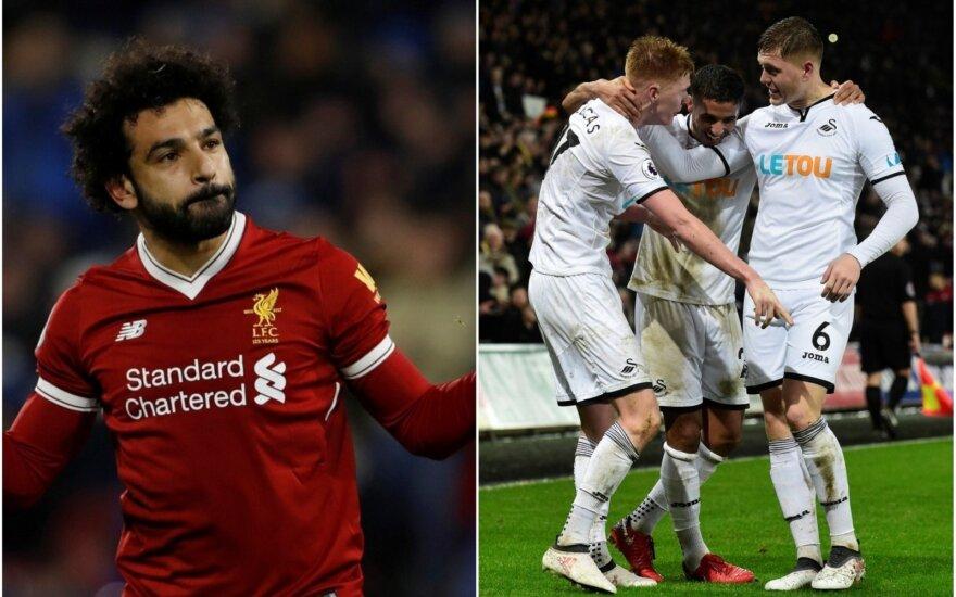 "Mohamedas Salah ir ""Swansea City"" futbolininkai"