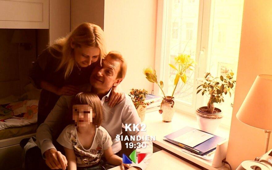 Albertas Bandžius ir Sigita Junker su dukra