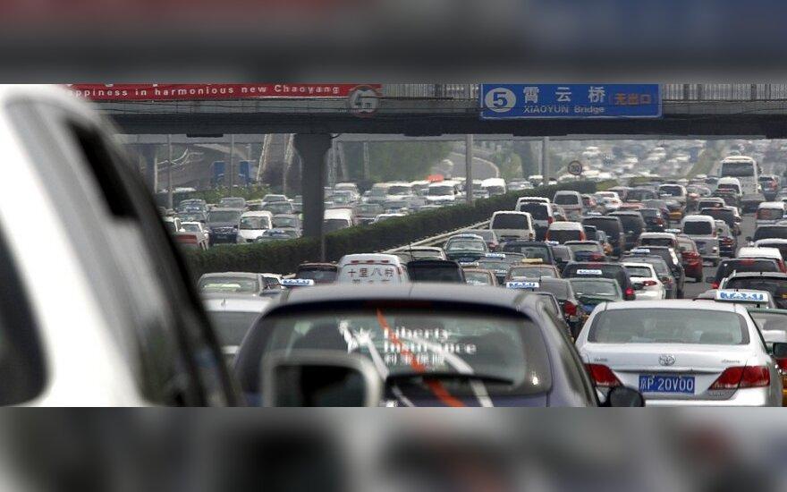Automobilių spūstys Kinijoje