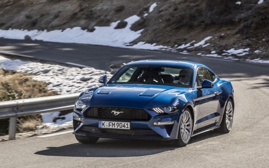 "Atnaujinto ""Ford Mustang"" bandymai Prancūzijoje"