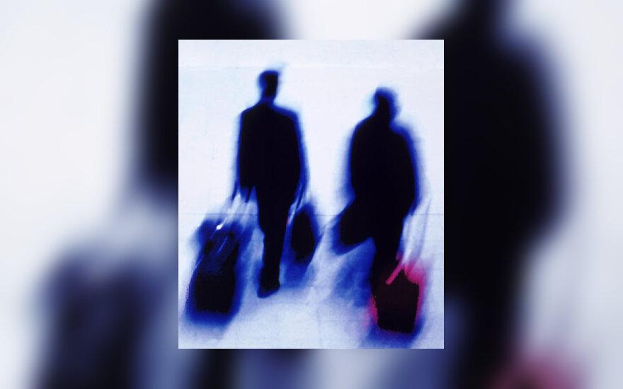 Oro uostas, keleiviai, išvykimas