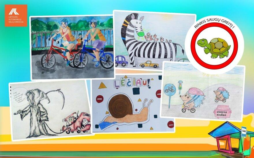 Autobusų stotelių paviljonus papuoš piešinių konkurso nugalėtojų darbai