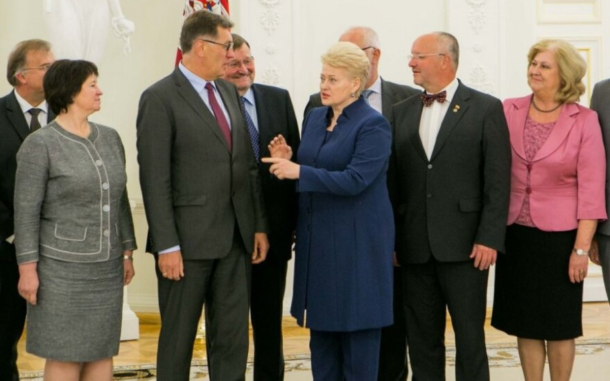 President Grybauskaitė and members of the Lithuanian Government