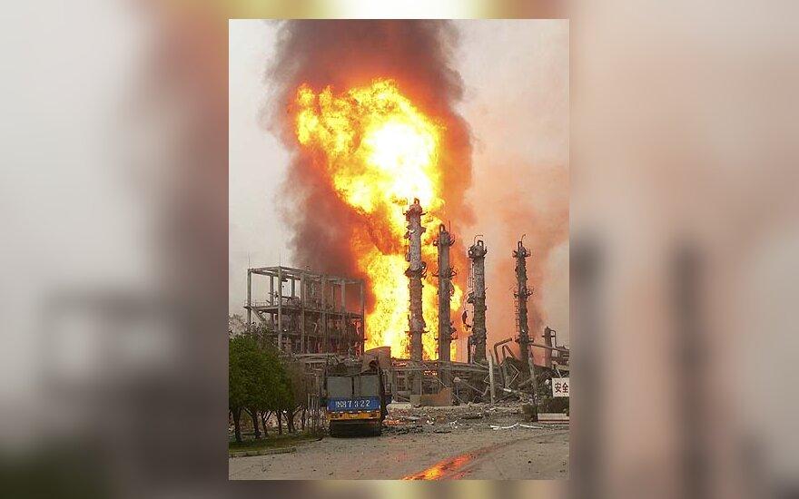 Kinijoje įvyko sprogimas chemijos gamykloje
