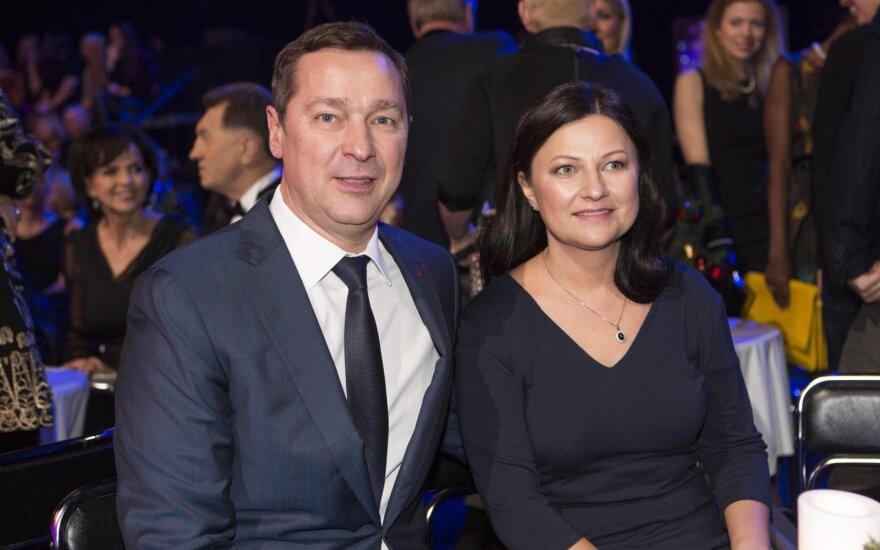 Artūras Zuokas su žmona Agne