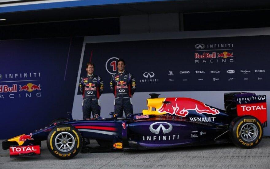 Sebastianas Vettelis ir Danielis Ricciardo