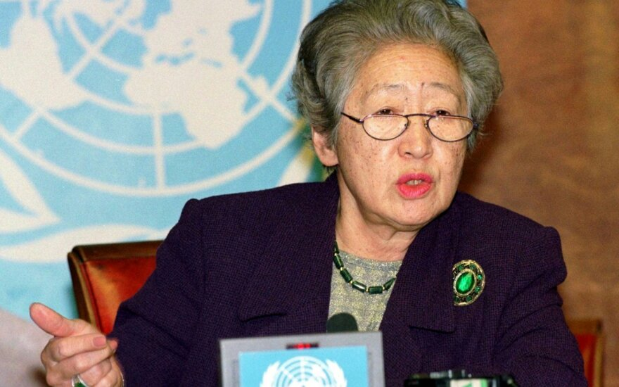 Sulaukusi 92 metų amžiaus mirė buvusi JT vyriausioji pabėgėlių reikalų komisarė Sadako Ogata