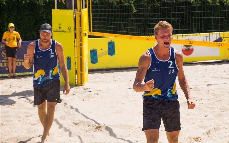 Lietuvos paplūdimio tinklininkai – pusfinalyje