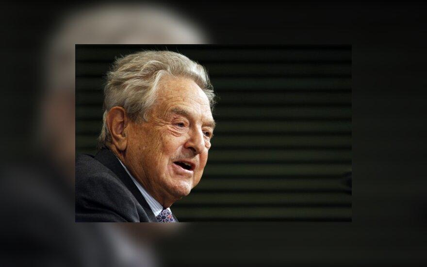 G.Sorosas: net išgelbėjus Graikiją euro ateitis liktų neaiški