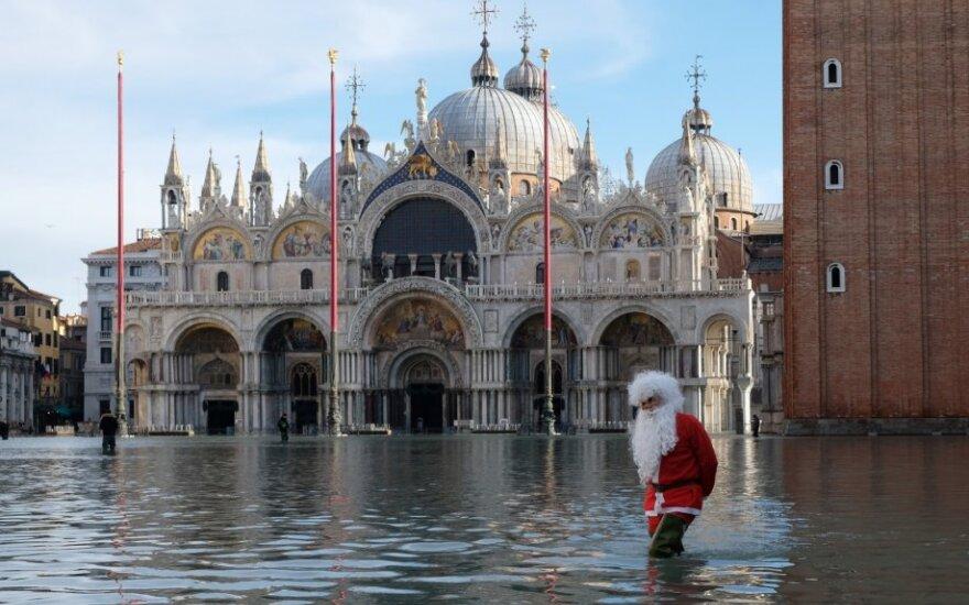 Veneciją vėl apsėmė potvynis