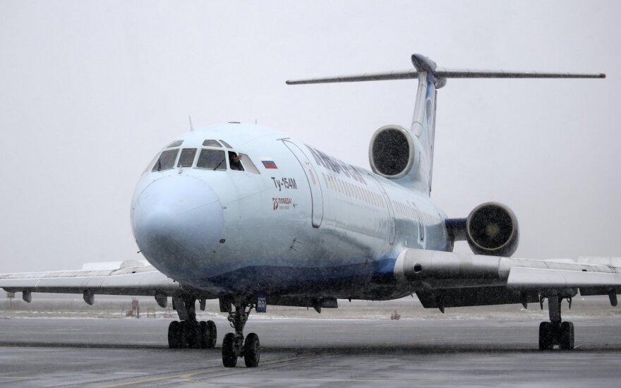 """Liūdnai pagarsėjęs lėktuvas """"Tupolew Tu-154"""" atliko paskutinį skrydį"""