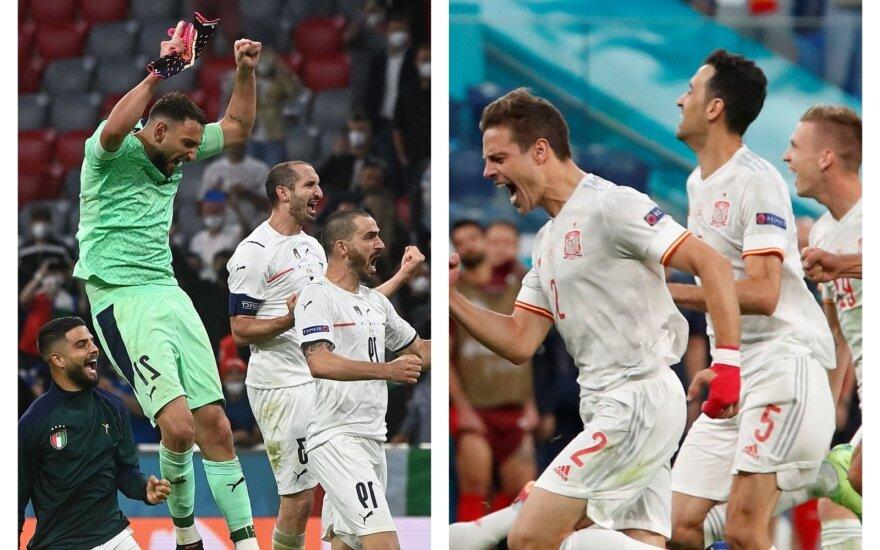 Europos čempionato pusfinalis: Italija - Ispanija