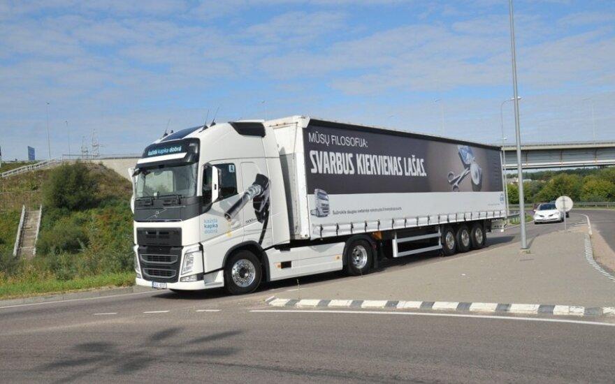 """Sunkvežimių ekonomiškumo varžybos """"The Drivers' Fuel Challenge"""""""