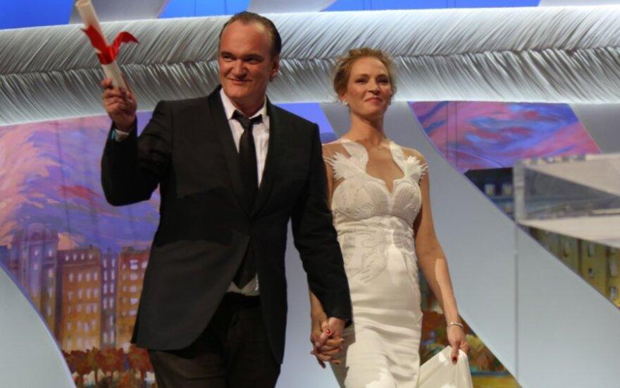 Quentinas Tarantino ir Uma Thurman