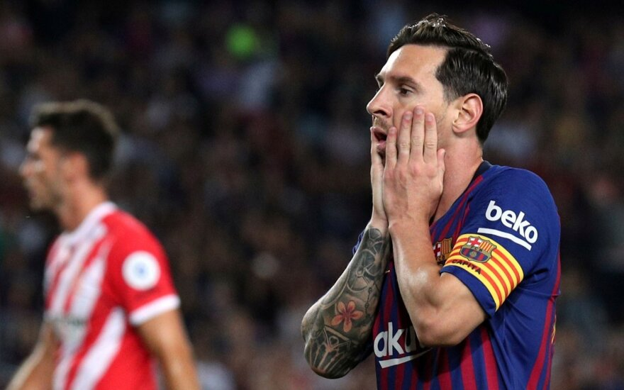 """""""Barca"""" su Messi gelbėjosi namie, Ronaldo išplėšė pergalę """"Juventus"""""""