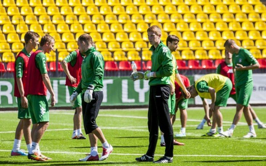 """Vilniaus miesto futbolo draugijos """"Žalgiris"""" komandos treniruotė"""