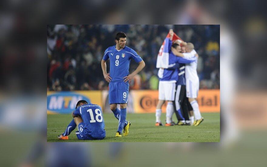 Italai pralaimėjo slovakams