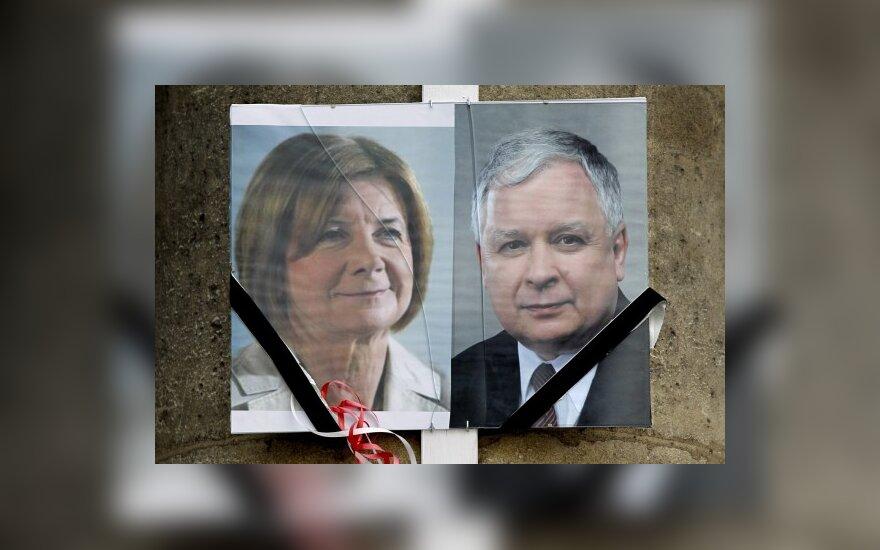 Maria Kaczynska ir Lechas Kaczynskis