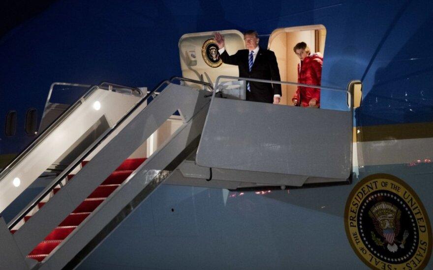Donaldas Trumpas ir Barronas Trumpas