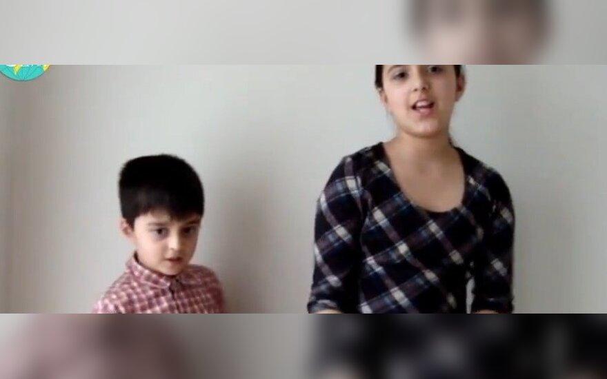 Mišrias šeimas sukūrusių lietuvių vaikai uždainavo lietuviškai