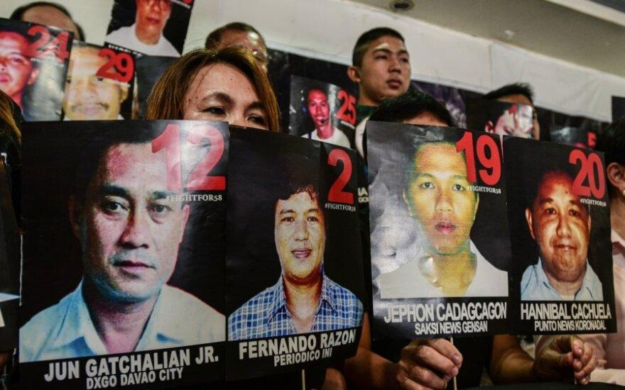 Filipinų teismas pripažino Ampatuano klano narius kaltais dėl 57 žmonių nužudymo