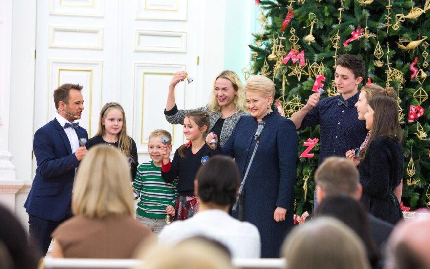 Kalėdų Eglutės įžiebimas Prezidentūroje