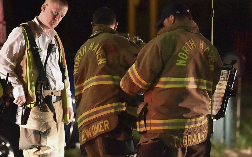 Konektikute per įkaitų vadavimo operaciją sprogus pastatui sužeisti 8 pareigūnai