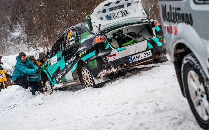 Winter Rally 2019: bandomasis greičio ruožas