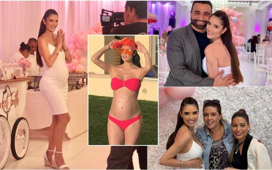 Marlene Favela surengė antrą kūdikio sutikimo vakarėlį