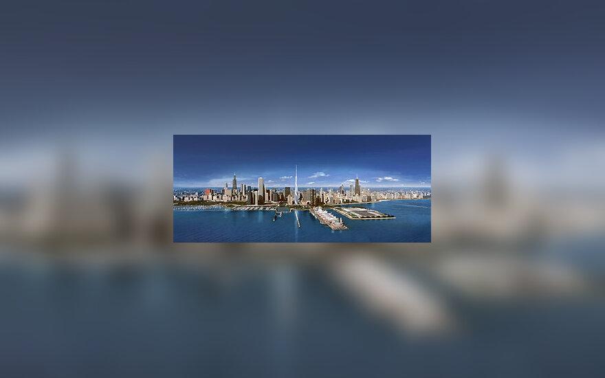 Būsimojo Čikagos dangoraižio - aukščiausio JAV pastato - projektas