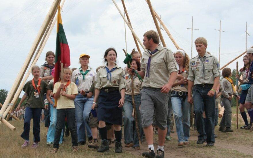 Skautų stovykloje – 2000 jaunuolių iš Lietuvos ir užsienio