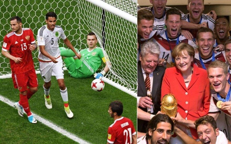 Pasaulio taurė: ar Rusija išvengs istorinės gėdos, o vokiečiai – čempionų prakeiksmo?