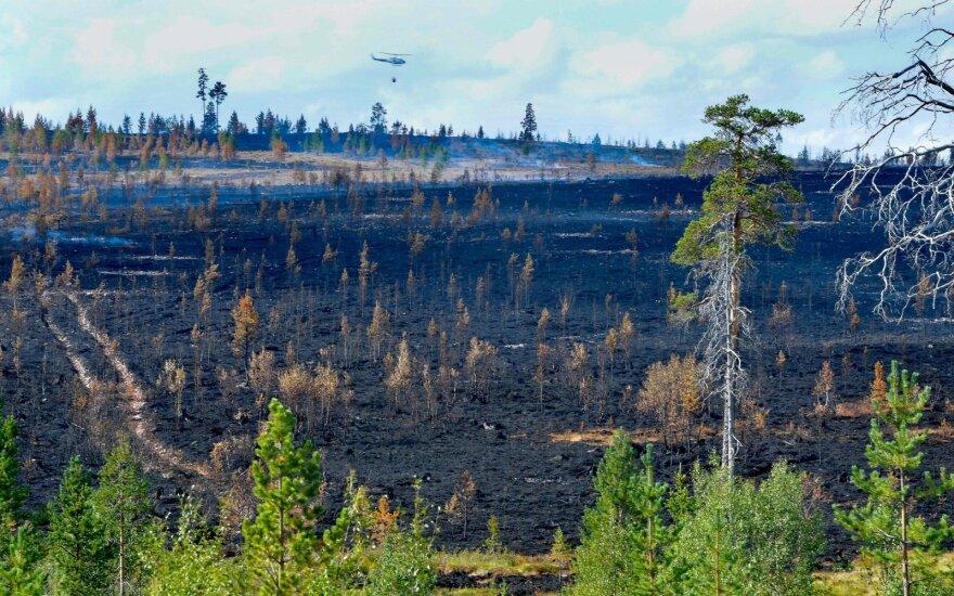 Švedijoje dėl didelio gaisro evakuoti vienos salos gyventojai