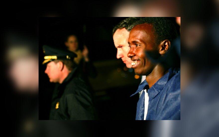 Sučiuptas Somalio piratas atvežtas į Niujorką