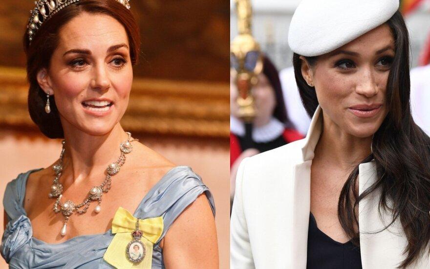tarp Meghan Markle ir Kate Middleton