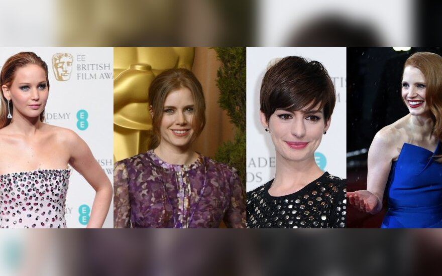 Jennifer Lawrence, Amy Adams, Anne Hathaway, Jessica Chastain