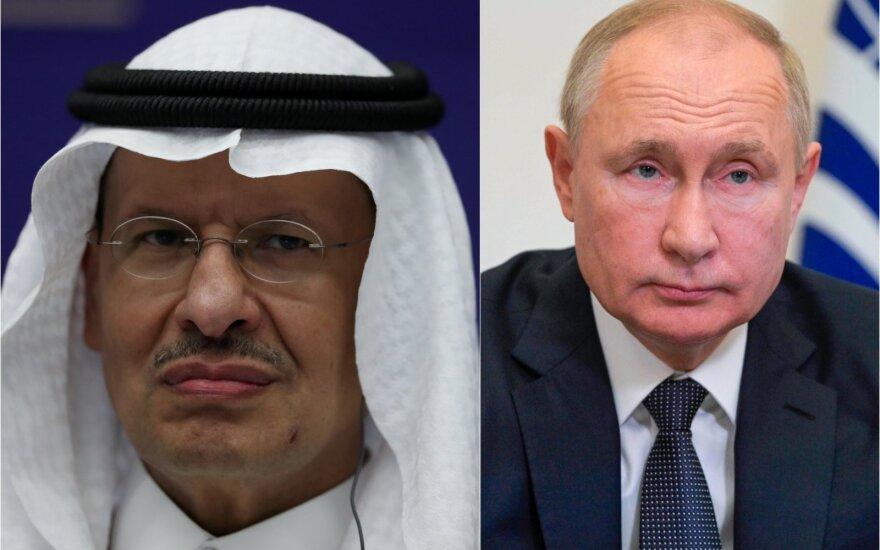 Salmanas bin Abdulazizas al Saudas ir Vladimiras Putinas