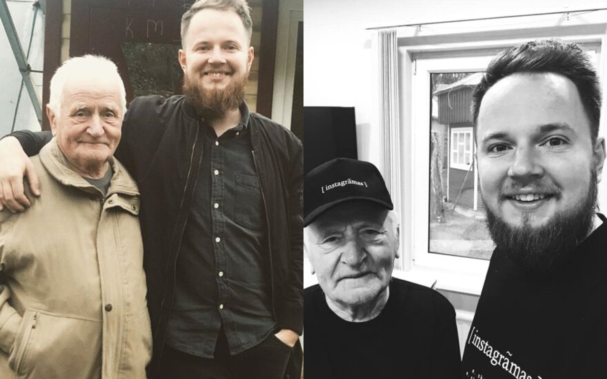 Mantas Bartuševičius su seneliu Vincu