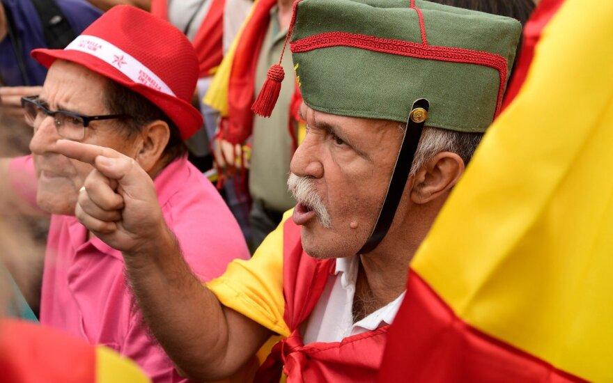 Ispanijos pensininkai protestuose reikalauja didesnių pensijų