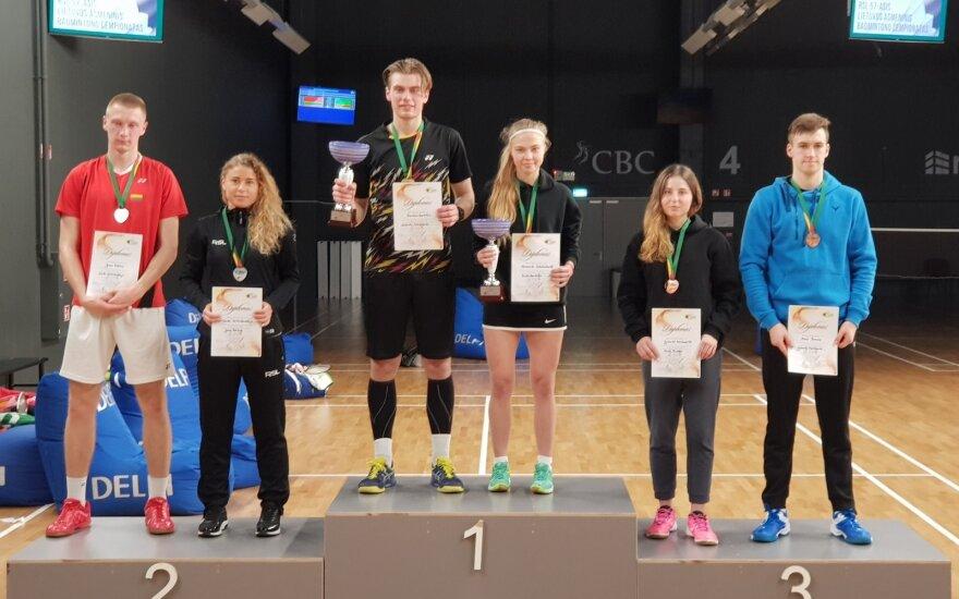 Lietuvos badmintono čempionato prizininkai / badminton.lt