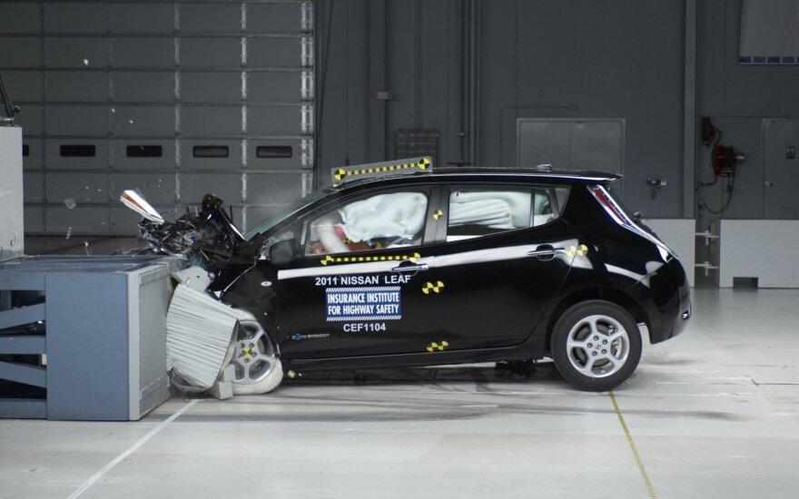"""""""Euro NCAP"""" saugumo teste elektromobilis"""