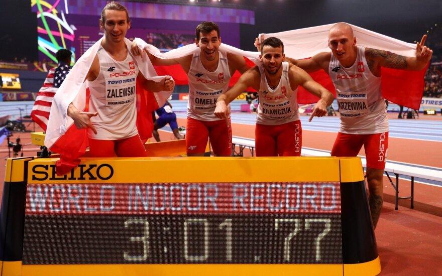 Lenkijos sprinteriai pasiekė pasaulio rekordą