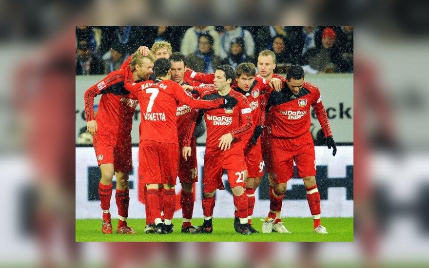 "Vokietijoje - svarbi ""Bayer"" pergalė prieš ""Hoffenheim"""