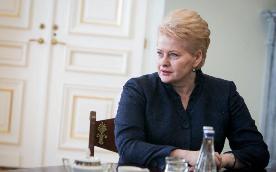 D. Grybauskaitė: su euru Lietuva būtų lengviau išgyvenusi krizę